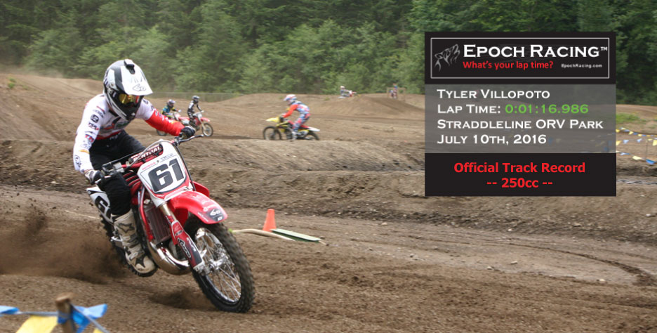 Tyler Villopoto with GPS Lap Timer